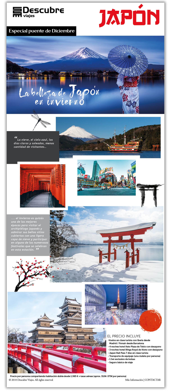 La belleza de Japón en invierno, especial puente de Diciembre