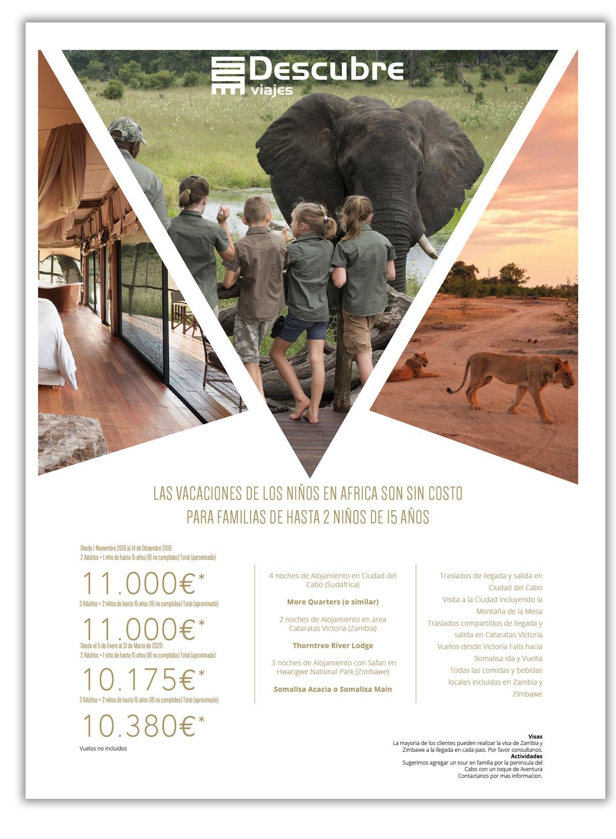 Las vacaciones de los niños en África son gratis